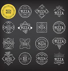 Pizza icon restaurant Badge design vector image vector image