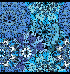 seamless blue artistic pattern vector image vector image