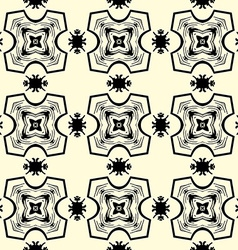 Seamless ornament pattern in black on yellow vector image vector image