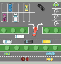 traffic laws poster in flat style vector image vector image