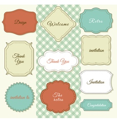Vintage Frames on Shabby Chic background vector image
