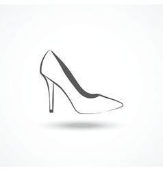 Womans shoe icon vector image vector image