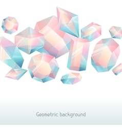 Abstract background with geometric crystals and vector image