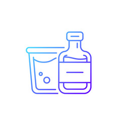 airplane alcohol gradient linear icon vector image