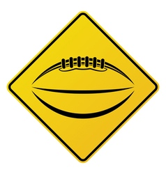 American Football Road Sign vector image