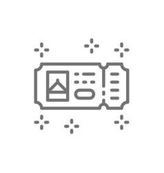 Amusement park ticket line icon vector
