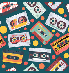 audio cassette pattern stereo mixtape record vector image