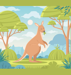 Australia cartoon background vector