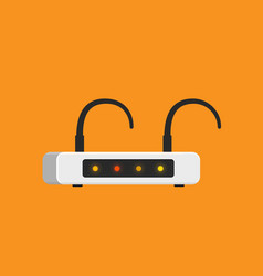 bad signal low speed wifi router flat design vector image