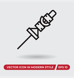 barbecue icon in modern style for web site and vector image