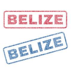 Belize textile stamps vector