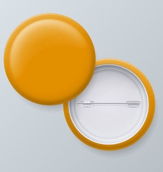 Blank yellow badges vector image