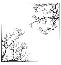 Branch borders halloween black and white print vector