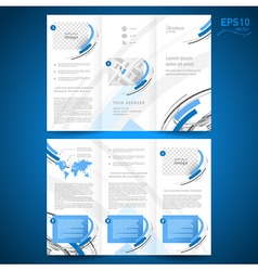 Brochure design template geometric abstract vector