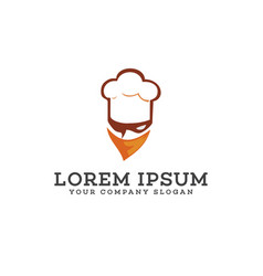chef head with mask logo mascot logo design vector image