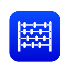 children abacus icon digital blue vector image