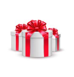 christmas new year holiday present box gift vector image