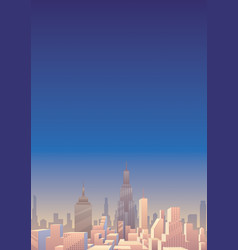 Cityscape vertical 3 vector