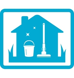 cleaning home icon vector image