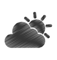 Cloudy weather isolated icon vector