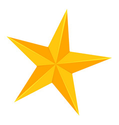 colorful cartoon 5 point golden star vector image