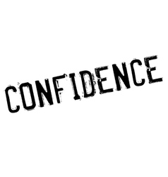 Confidence stamp rubber grunge vector