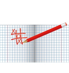 Copybook with pencil vector