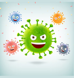Coronavirus outbreak covid-19 emoticon cartoon 001 vector