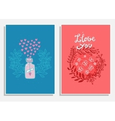 Cute gift tags Love vector