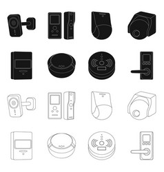 Design of cctv and camera icon collection vector