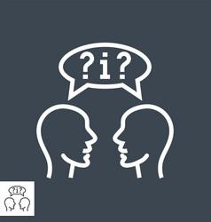 dialogue thin line icon vector image