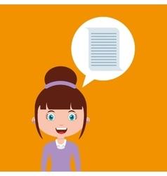 Document education online design girl vector