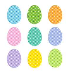 easter eggs with polka dots vector image