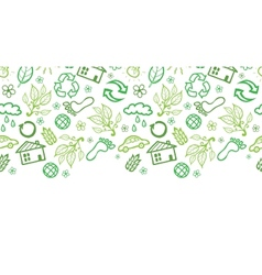 Ecology symbols horizontal seamless pattern vector image