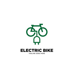 Electric bike logo template vector