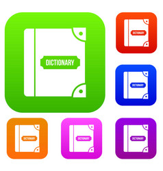 english dictionary set collection vector image