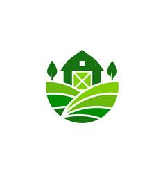 Field farm logo icon design vector