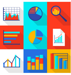 Financial expert icons set flat style vector