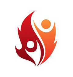 fire life vector image
