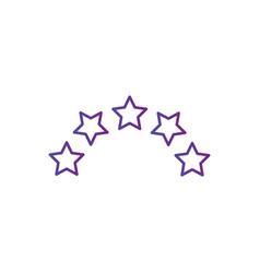 five linear score stars in circle geometric shape vector image