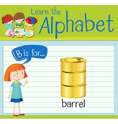 Flashcard letter B is for barrel vector image