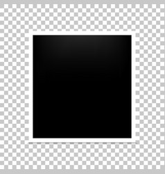 frame photo realistic blank isolated background vector image