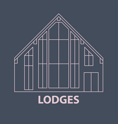 Glamping lodges accomodation vector
