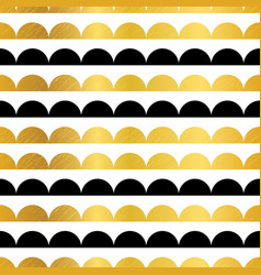 Gold black stripes scallops stripes vector