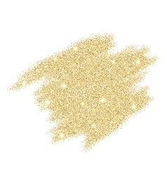Gold sparkles on white background vector