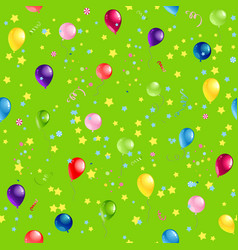 green happy birthday pattern vector image