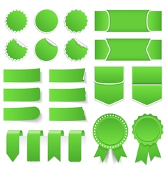Green Price Tags Stickers Banners vector image