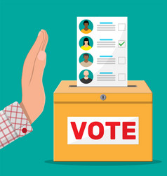 Hand against vote vector