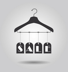 hanging sale signage clothing hanger banners icon vector image