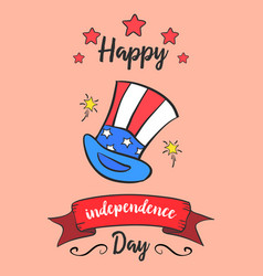 Happy independence day colorful card style vector